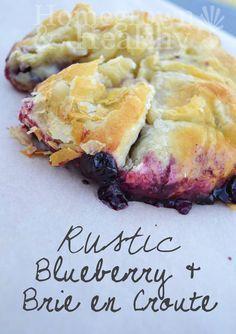 Highbush Blueberries + savory puff pastry + creamy brie = amazing! http://homegrownandhealthy.com