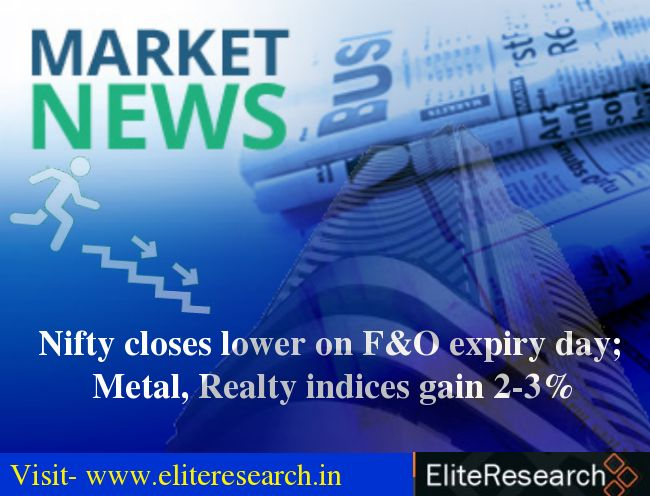 The 30-share #BSE #Sensex was down 63.78 points at 33,848.03 and the 50-share #NSE #Nifty fell 12.90 points to 10,477.90. #EliteInvestmentAdvisory
