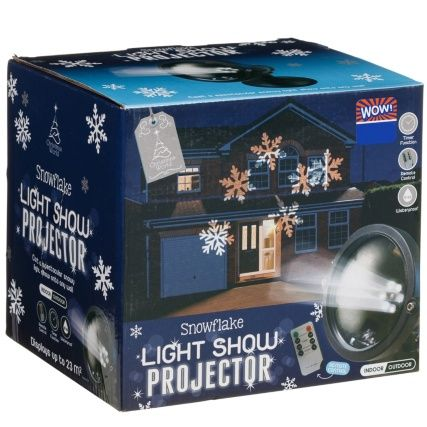 Create a magical light show during Christmas this year with this stunning projector. Display images in light form across the front of your home - B&M.