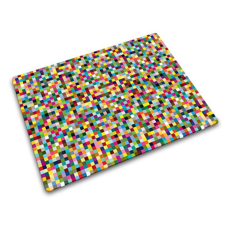 Joseph Joseph Mini Mosaic Glass Chopping Board, Multicolor