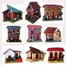 artesanias de casitas pintadas decerámica - Buscar con Google