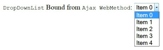 We will see one Example to bind one DropDownList using jQuery Ajax and C# WebMethod.