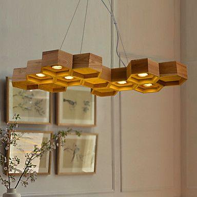 MAX 3W Rustikal Lndlich Retro LED Korrektur Artikel Holz Bambus Pendelleuchten Wohnzimmer