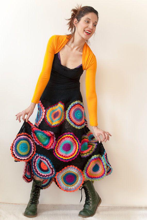 Long Gypsy Circle Skirt by subrosa123 on Etsy, €240.00