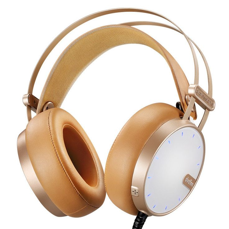 DVCFINE G26 Over-Ear Gaming Headset Hifi Stereo 3.5mm with Mic Vibration Black/Brown/Gold