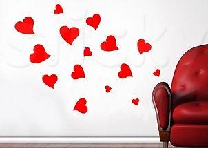 Wall Sticker HEARTS by Sticky!!!