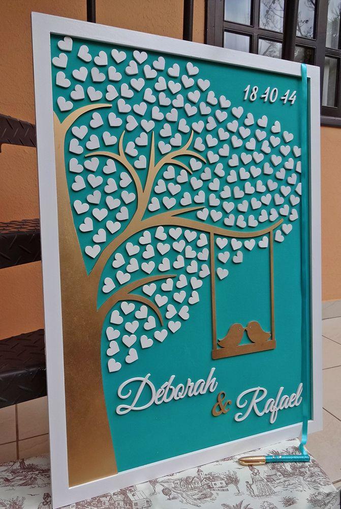 Wedding Guest Board by Lyra Design Studio. http://www.elo7.com.br/quadro-meia-arvore-de-assinaturas/dp/42C2E2#df=d&uso=d