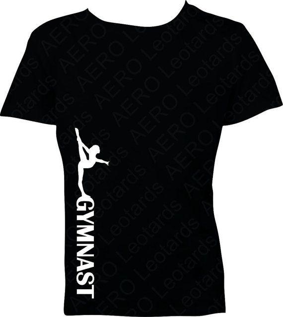 Gymnastics Tshirt Gymnast Gymnastic Shirt Tshirt by AEROLeotards