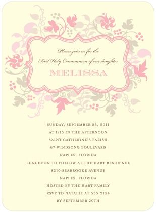 floral invitation from tiny print