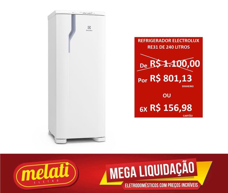 SALDÃO REFRIGERADOR ELECTROLUX RE31 DE 240 LITROS ========================================== CLASSIFICAÇÃO DO PRODUTO SALDO => https://www.melatieletro.com.br/pagina/nossos-produtos.html  ==========================================  📌 ❶ A͟͟N͟͟O͟͟ D͟͟E͟͟ G͟͟A͟͟R͟͟A͟͟NT͟͟I͟͟A͟͟ CONTRA DEFEITO FUNCIONAL  ==========================================  🚛 F͟͟R͟͟E͟͟T͟͟E͟͟ G͟͟R͟͟A͟͟T͟͟I͟͟S͟͟ consulte as regras do frete grátis ==========================================  📍ENDEREÇO DA LOJA   RUA INGÁ…