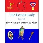The Lesson Lady presents FREE Olympic puzzles and more! 10 printable activities with a summer Olympics theme are included in this fun packet.St...