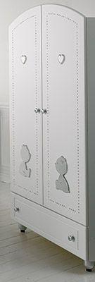 armadio CUORE DI MAMMA bianco/platino #baby #crib #cot
