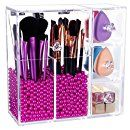 Amazon.com: Lifewit Langforth 5mm Thick Acrylic Makeup Organizer Case with Rosy Pearl, Type 1: Home & Kitchen