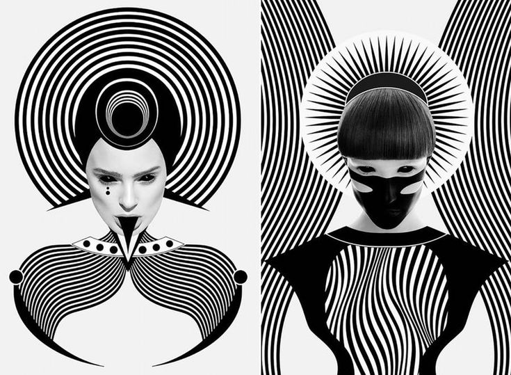 Black and White Digital Portraits – Fubiz Media