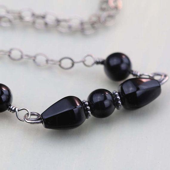 Black Onyx Choker Necklace  Onyx Gemstone Necklace  by Jularee #integritytt