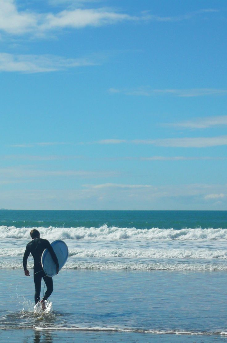 Surfing at Red Beach