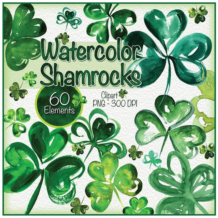 60 hand Painted Watercolor Shamrock clipart for St. Patricks.   Please keep checking back as I have a lot of art and am adding more everyday! I literally have thousands if clipart artworks that I have created from over 35+ years as a designer!  Print this art print on your home printer or at favorite print shop - a very economical way to decorate any space in your home, kitchen, childs room or office. Also use for Valentine crafts, journaling, scrapbooks, etc.  ♥ Printable Wall Art •…