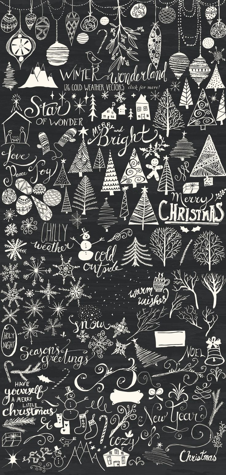winter wonderland bundle  christmas chalkboard christmas