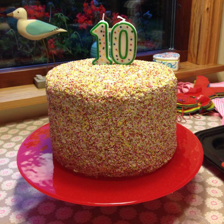Sprinkle Rainbow Cake