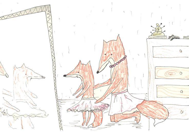 fox daughter family tulle skirt