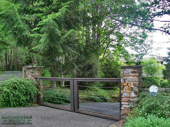 The 25 best farm entrance gates ideas on pinterest for Motorized gates for driveways