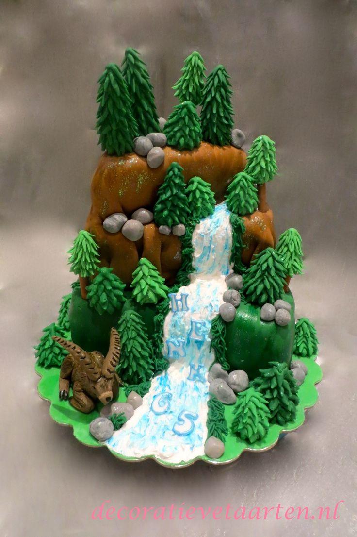 Taart 'Waterval in het bos'