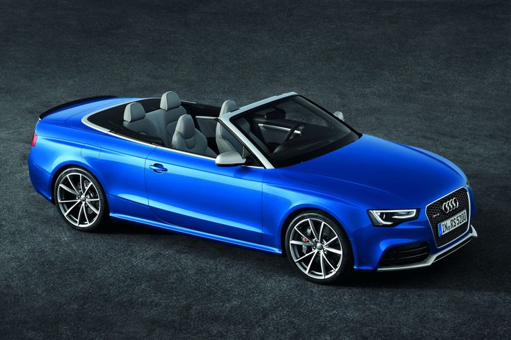 Audi Blows the Top Off the New RS5 Cabriolet [Photos & Video] - Carscoop - [As the open-top version of the RS5 Coupe, the Cabriolet gets the same suite of performance and mechanical upgrades including a 4.2-liter naturally-aspirated V8 engine that generates 444hp (450PS) at 8,250 rpm and a maximum torque of 430Nm (318 lb-ft) between 4,000 and 6,000 rpm...Customer deliveries in Europe will begin in early 2013, with prices in its home market of Germany to start at €88,500 (equal to $111,500)]