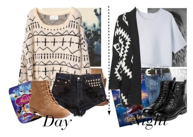 """#Sweater Day at home seeing Old Disney Movies"" by victoriaaili ❤ liked on Polyvore featuring Forever 21, River Island, Alexander Wang, Disney, Sperry and yeswalker"