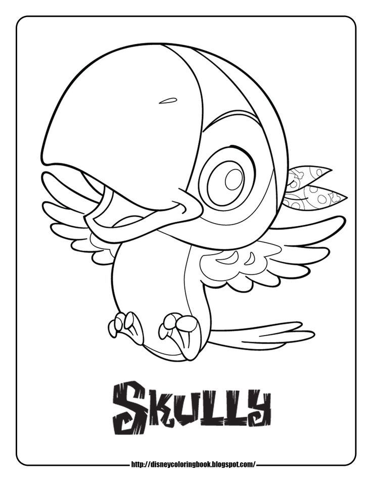 Jake And The Never Land Pirates Coloring Pages Sheets Skully