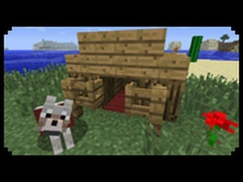 This is a cool doghouse on minecraft!