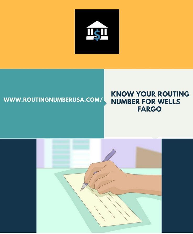 Order Routing Number Wells Fargo Money