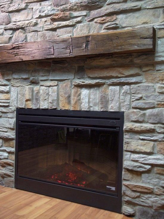 Wood Mantels replace with RECLAIMED WOOD MANTEL | Joanne's ...