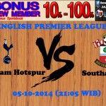 Prediksi Pertandingan Tottenham Hotspur Melawan Southampton 5 Oktober 2014 ENGLISH PREMIER LEAGUE