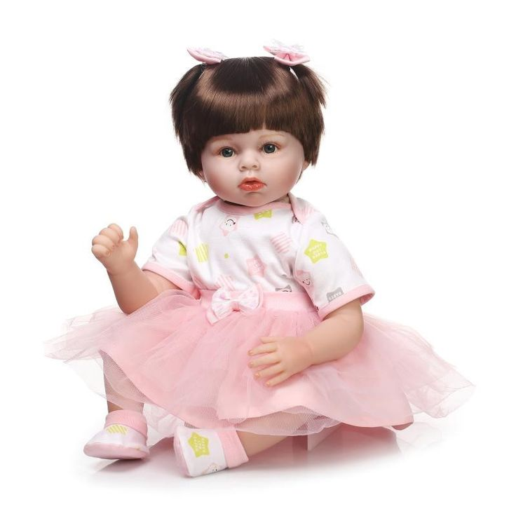 117.50$  Buy here - http://aliuqp.worldwells.pw/go.php?t=32716718609 - Real Like Soft Body Silicone Reborn Baby Doll For Girls Cute Baby Girl Newborn Dolls To Child Sleep Partners Early Education Toy