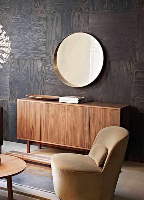 the 50s interior design trend the modern ikea stockholm and panelling. Black Bedroom Furniture Sets. Home Design Ideas