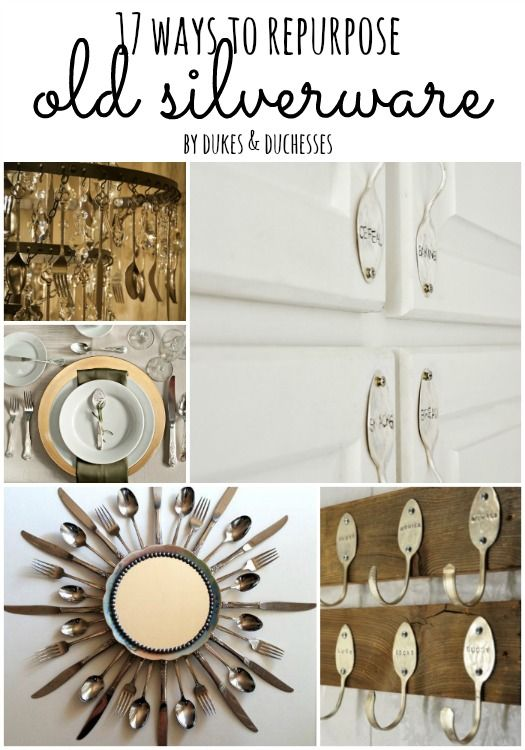17 ways to repurpose old silverware