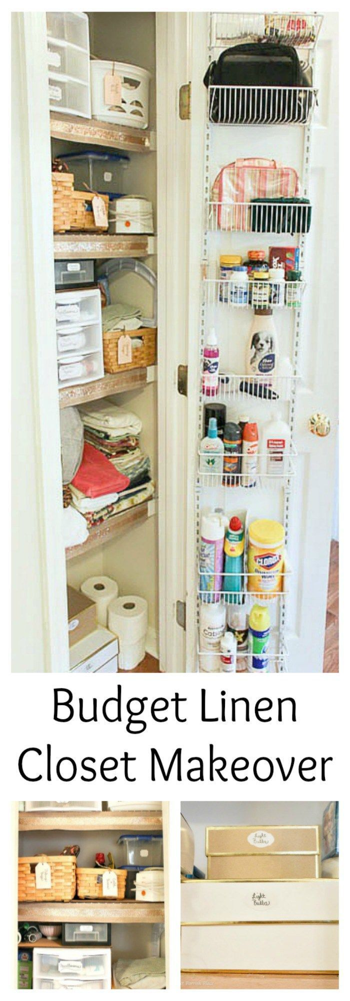 280 best images about home linen closet on pinterest for Organizing ideas for closets
