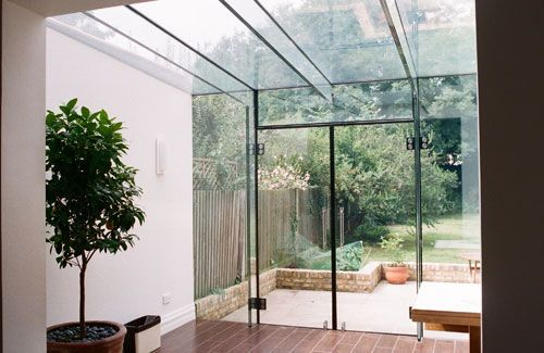 Make your interior bright: Extending the room that overlooks your garden might mean that you create a long thin space thats very dark at one end - and by that we mean the end furthest from the garden. If this is going to be the case, its worth introducing as much glazing as possible into the addition. Failing that, putting a roof window, such as a Velux, into the extension should be considered. Extension by www.eaglesgw.co.uk