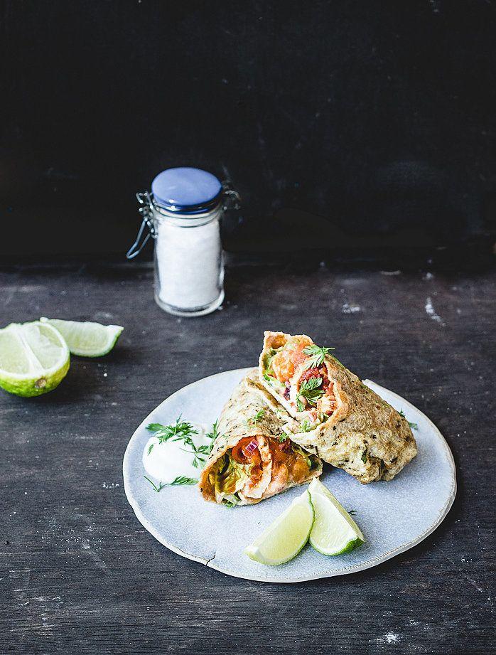 Healthy Breakfast Burritos With Homemade Tortillas