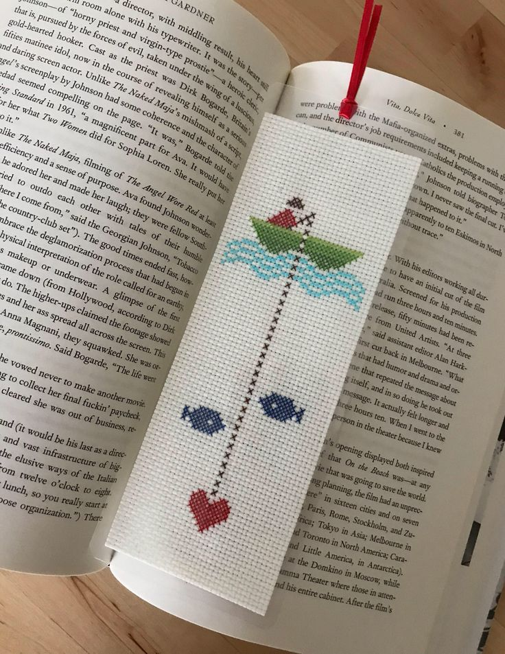 Excited to share the latest addition to my #etsy shop: Fishing, Cross Stitch Bookmark