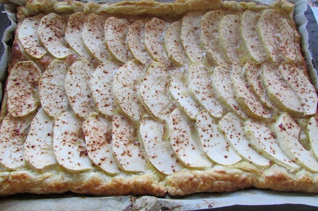 Kulinarne Wariacje: Błyskawiczny placek z jabłkami na cieście francusk...