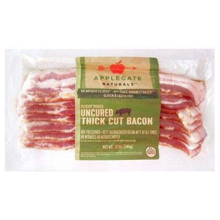 Applegate Uncured Thick Cut Bacon 12oz : Target