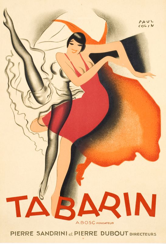 Vintage Poster - Paul Colin - Tabarin - Cabaret - Showgirl - Dance - French