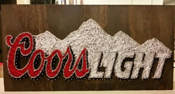 Coors Light String Art Sign Made to Order by RubyOwlDesigns