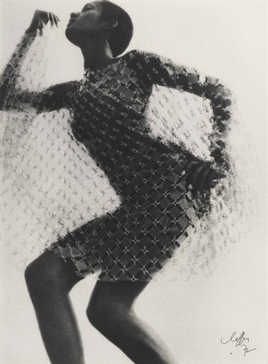Jean, Clemmer, Paco Rabanne dress, 1969