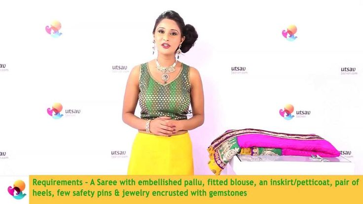How to Wear a Mermaid Style Saree in the DIY Way