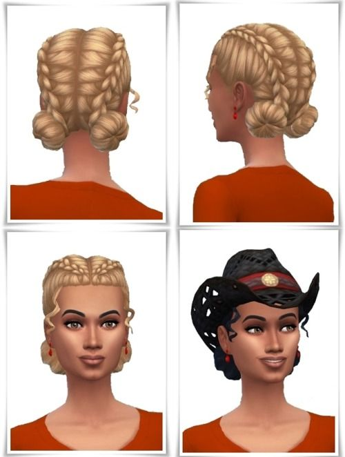 Brendas and Bangs DoubleBraids | Sims 4 cc and others | Sims