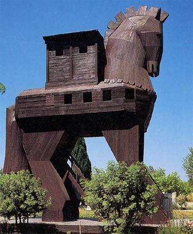 Trojan Horse in Hisarlik, #Turkey #travel #vacation