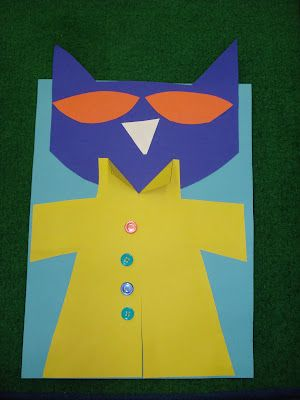 Number 4 with Pete the Cat and Wolf Comparing