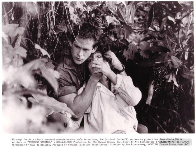 American Ninja - Publicity still of Michael Dudikoff & Judie Aronson